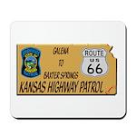 Kansas Highway Patrol Route 66 Mousepad