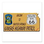 Kansas Highway Patrol Route 66 Square Car Magnet 3