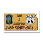 Kansas Highway Patrol Route 66 Rectangle Car Magne
