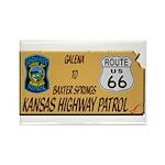Kansas Highway Patrol Route 66 Rectangle Magnet (1