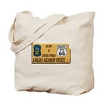Kansas Highway Patrol Route 66 Tote Bag