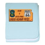 Kansas Highway Patrol Route 66 baby blanket