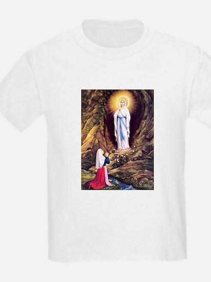 Virgin Mary - Lourdes Kids T-Shirt