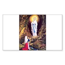 Virgin Mary - Lourdes Rectangle Decal