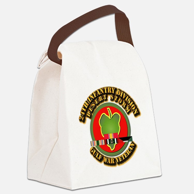 Army - DS - 24th INF Div Canvas Lunch Bag