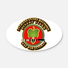 Army - DS - 24th INF Div Oval Car Magnet