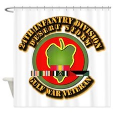 Army - DS - 24th INF Div Shower Curtain