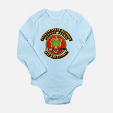 Army - DS - 24th INF Div Long Sleeve Infant Bodysu