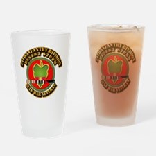 Army - DS - 24th INF Div Drinking Glass