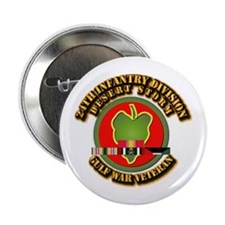 """Army - DS - 24th INF Div 2.25"""" Button"""