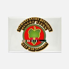 Army - DS - 24th INF Div Rectangle Magnet