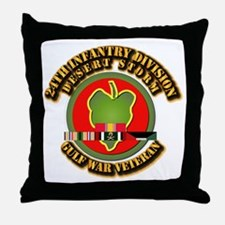 Army - DS - 24th INF Div Throw Pillow
