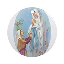 Virgin Mary - Lourdes Ornament (Round)