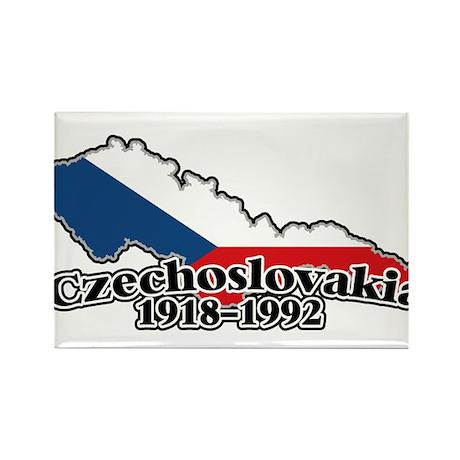 Czechoslovakia Logo (1918-1992) Rectangle Magnet