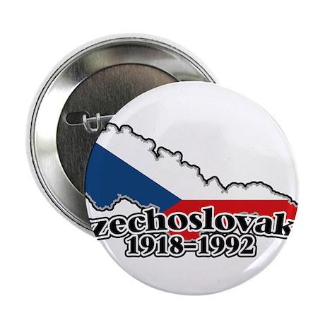 """Czechoslovakia Logo (1918-1992) 2.25"""" Button"""
