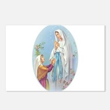 Virgin Mary - Lourdes Postcards (Package of 8)