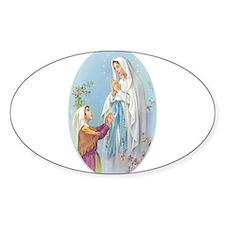 Virgin Mary - Lourdes Oval Decal