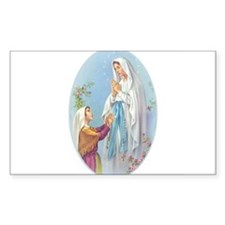 Virgin Mary - Lourdes Rectangle Decal
