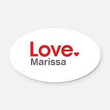 Love Marissa Oval Car Magnet