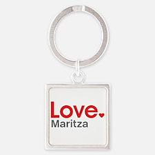 Love Maritza Square Keychain