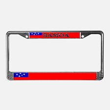 Samoa Samoan Blank Flag License Plate Frame