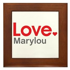 Love Marylou Framed Tile