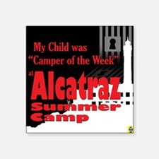 "Alcatraz Summer Camp Square Sticker 3"" x 3"""