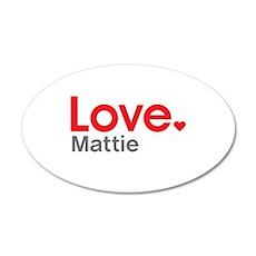 Love Mattie Wall Decal