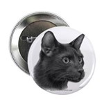 Havana Brown Cat Button