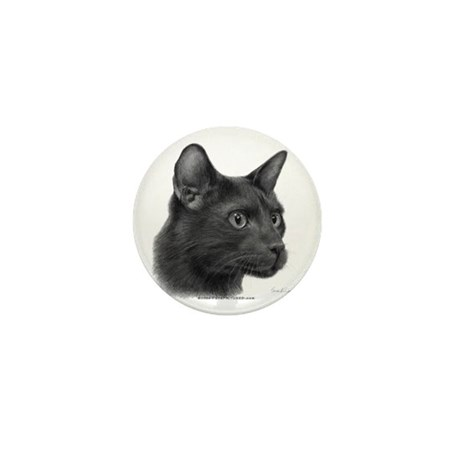 Havana Brown Cat Mini Button (10 pack)