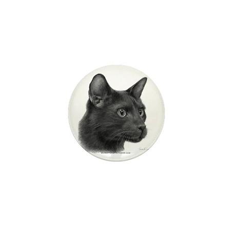 Havana Brown Cat Mini Button