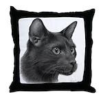 Havana Brown Cat Throw Pillow