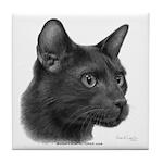 Havana Brown Cat Tile Coaster
