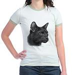 Havana Brown Cat Jr. Ringer T-Shirt