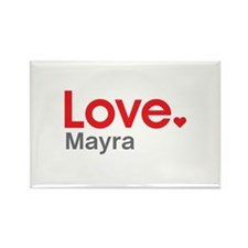 Love Mayra Rectangle Magnet