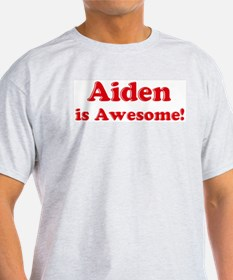 Aiden is Awesome Ash Grey T-Shirt