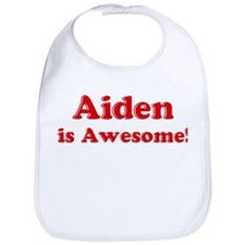 Aiden is Awesome Bib