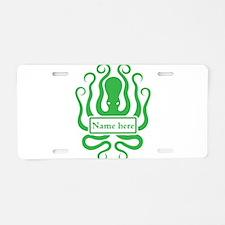 Custom Octopus Design Aluminum License Plate