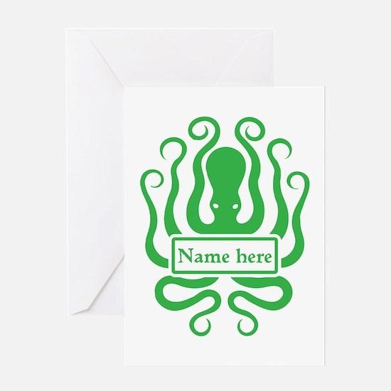 Custom Octopus Design Greeting Card
