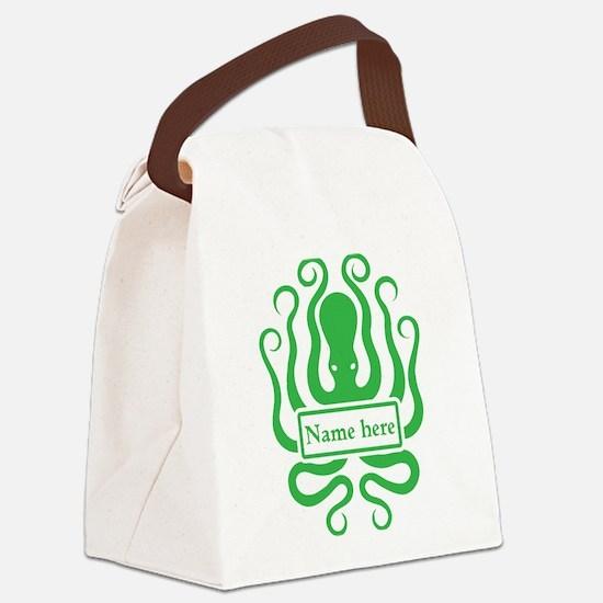 Custom Octopus Design Canvas Lunch Bag