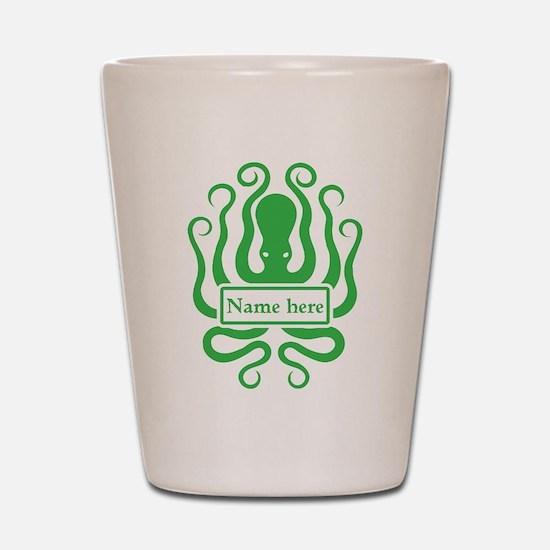 Custom Octopus Design Shot Glass