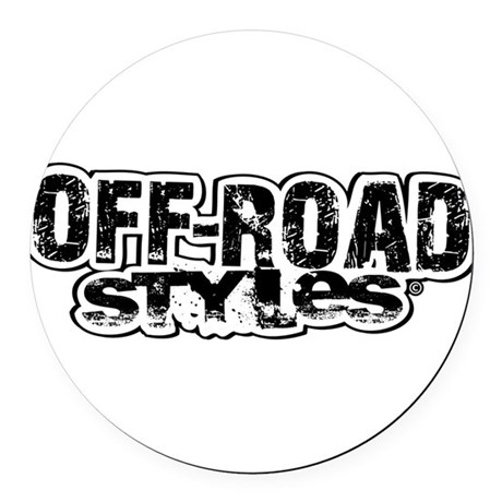 Off-Road Styles Round Car Magnet