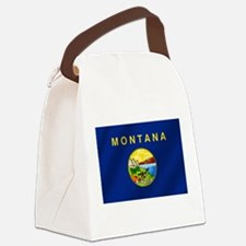Flag of Montana Canvas Lunch Bag