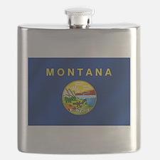 Flag of Montana Flask