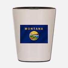 Flag of Montana Shot Glass