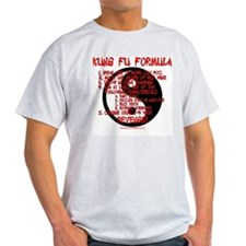 Kung Fu Formula Ash Grey T-Shirt