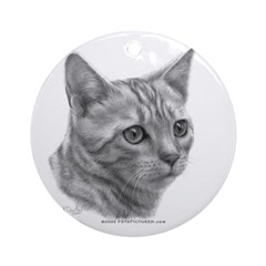 Bengal Cat Ornament (Round)