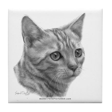 Bengal Cat Tile Coaster