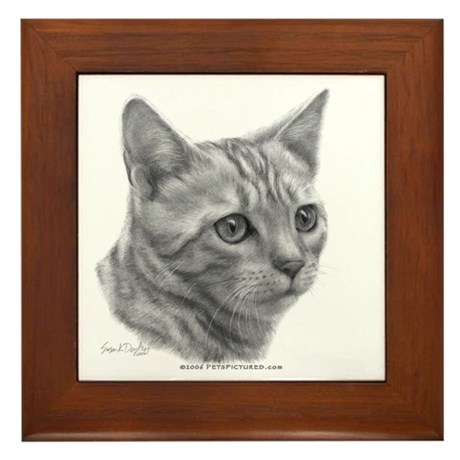 Bengal Cat Framed Tile