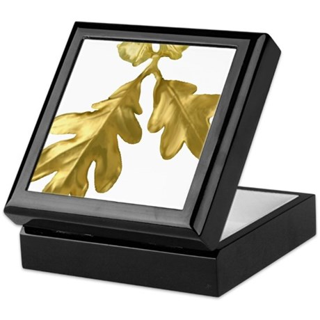 Golden Oak (leaves & acorns) Keepsake Box